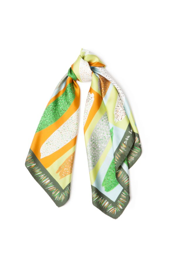 Square Silk Scarf, Silk Square, Printed Scarf, African Scarf, Designer Scarf, Foulard Soie