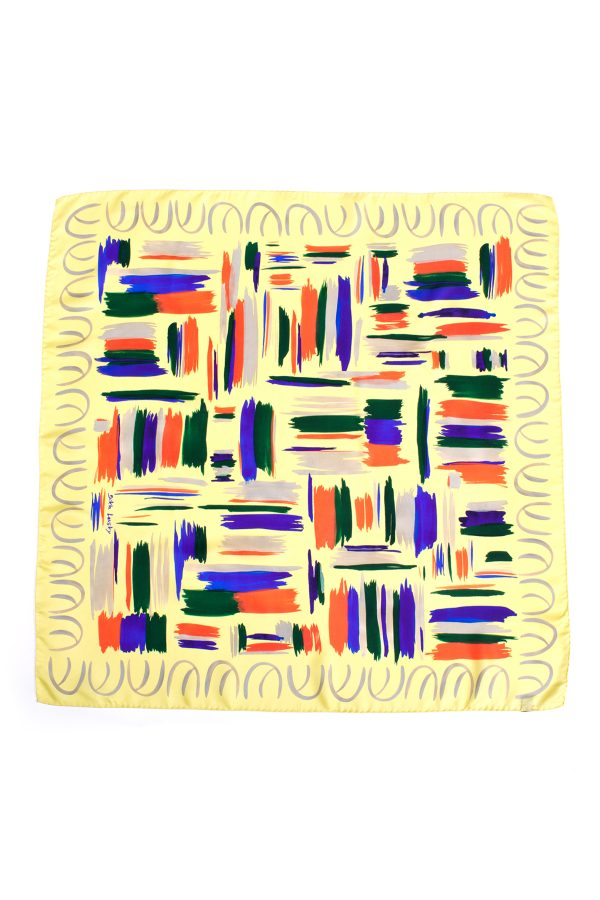 Silk Scarf; Dikla Levsky; Printed Scarf; Foulard Soie; Square Scarf; Made In Italy; Luxury Accessories; Designer Scarf; Ethnic Scarf
