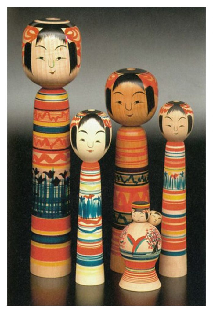 Traditional kokeshi dolls, Japan