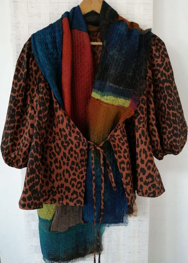 Multicolored patchwork shawl
